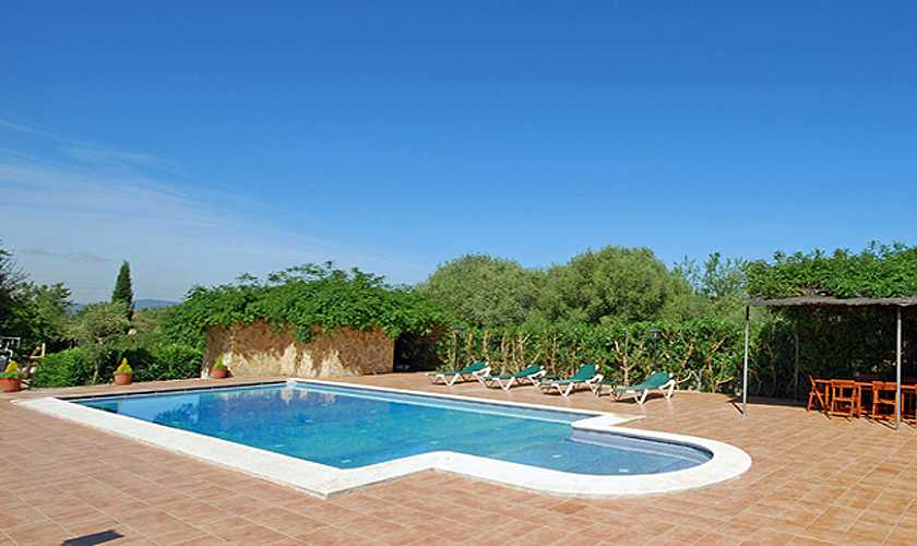 Poolblick Finca Mallorca Süden PM 160