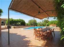Pool und Terrasse Finca Mallorca Süden PM 160