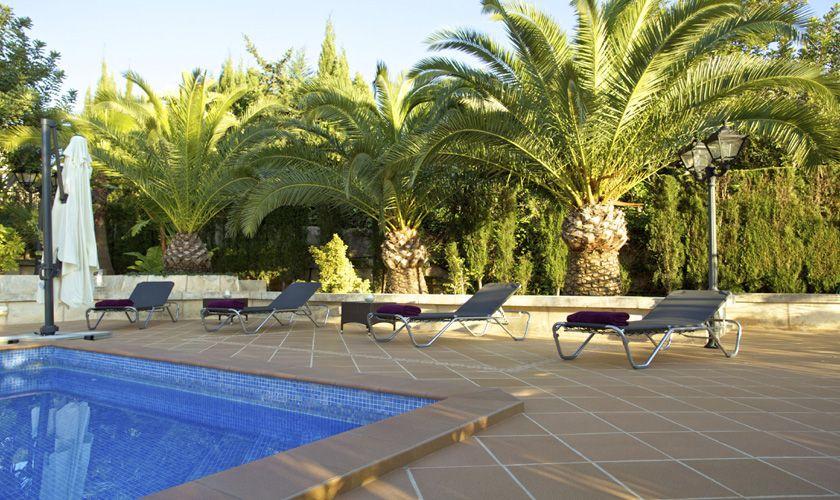 Poolblick Ferienvilla Mallorca Süden PM 165