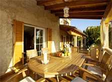 Terrasse Ferienvilla Mallorca für 8 Personen PM 165