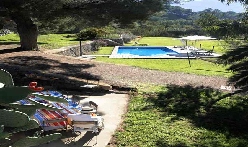 Pool und Terrasse Finca Mallorca Westküste PM 225