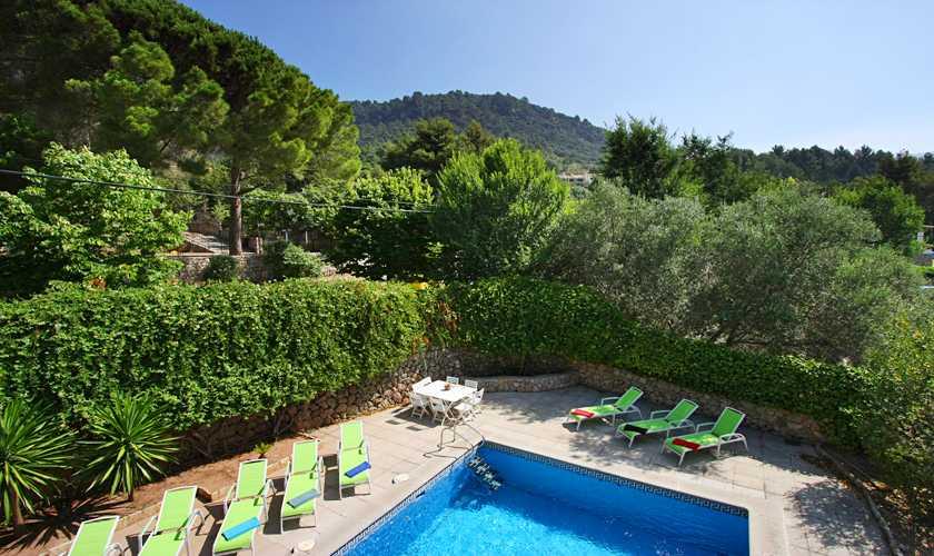 Poolblick Ferienhaus Mallorca Valldemossa PM 240