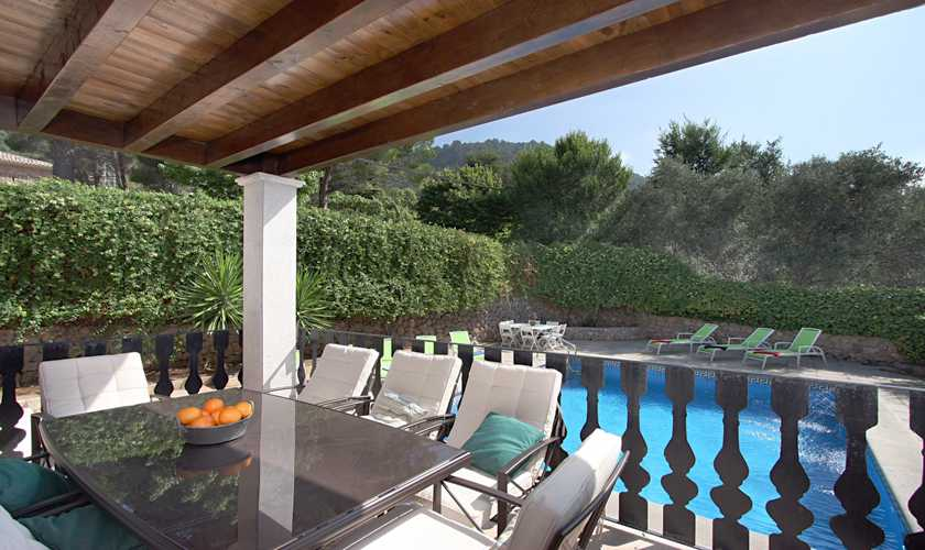 Terrasse Ferienhaus Mallorca Valldemossa PM 240