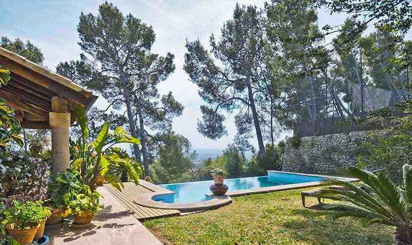 Pool und Garten Finca Mallorca 6 Personen PM 3021