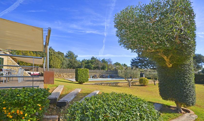 Garten Ferienhaus Mallorca PM 3026