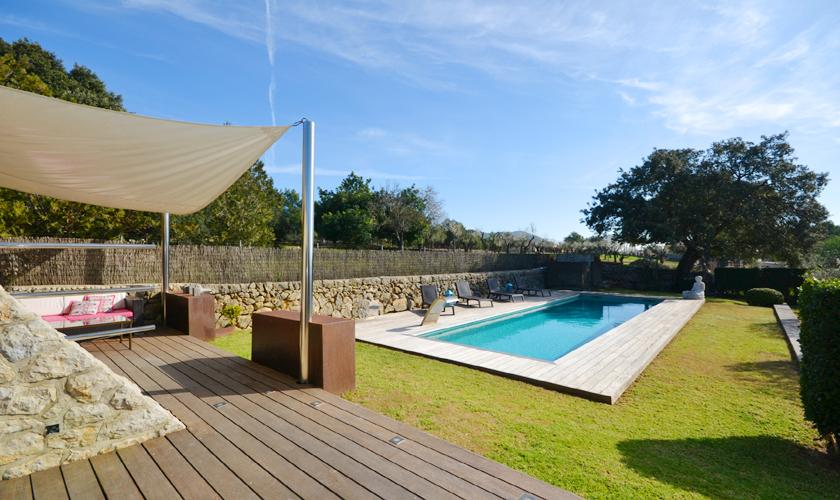 Poolblick Ferienhaus Mallorca PM 3026