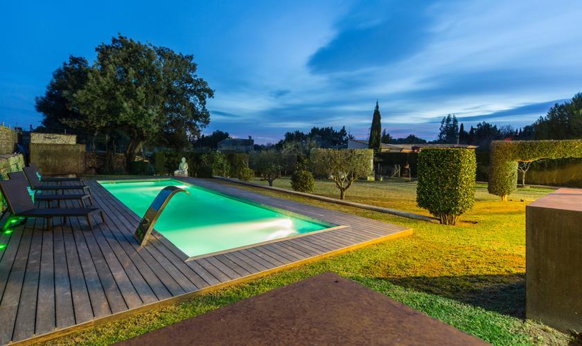 Beleuchteter Pool Ferienhaus Mallorca PM 3026