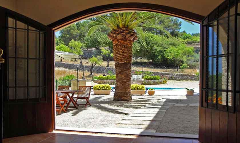 Blick von der Ferienfinca Mallorca Selva PM 302