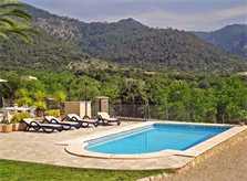 Pool und Landschaft Finca Mallorca Selva PM 302