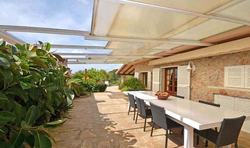 Terrasse Ferienhaus Mallorca für 8 Personen PM 3031
