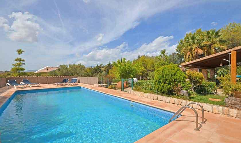 Poolblick Finca Mallorca für 8 Personen PM 3031
