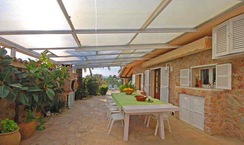 Terrasse Ferienfinca Mallorca für 8 Personen PM 3031