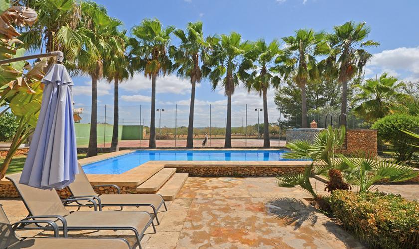 Poolblick Finca Mallorca für 8 - 10 Personen PM 3023