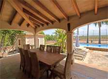 Terrasse Finca Mallorca für 8 - 10 Personen PM 3023