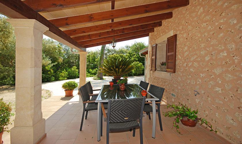 Terrasse Gästehaus Finca Mallorca für 16 Personen PM 3065