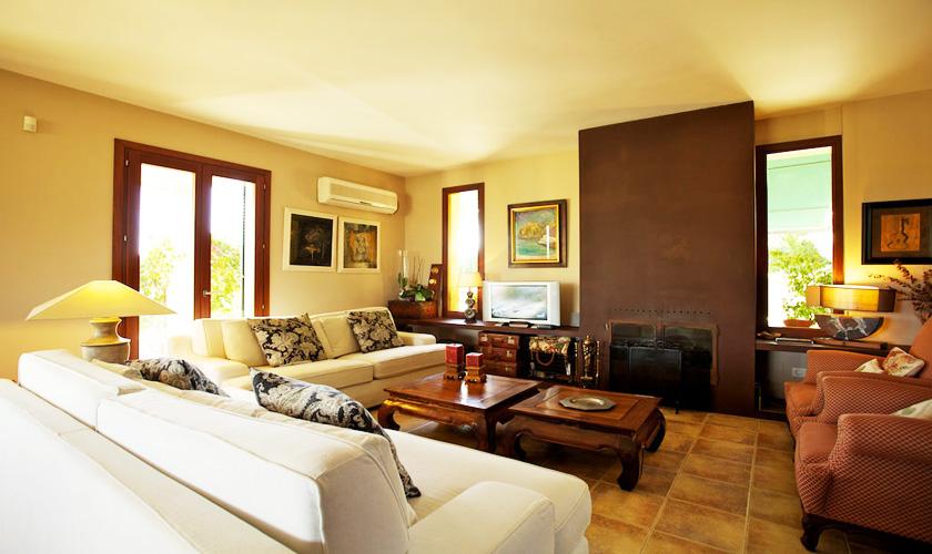 Wohnraum Ferienvilla Mallorca PM 3015
