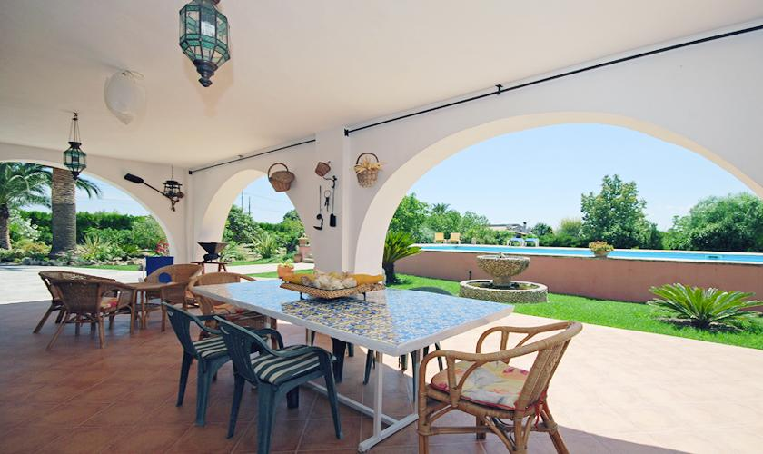 Terrasse Finca Mallorca bei Selva PM 312