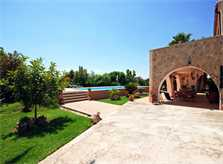 Blick auf die Finca Mallorca bei Selva PM 312