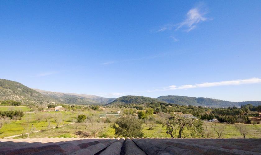 Blick in die Landschaft Finca Mallorca für 10 Personen PM 316