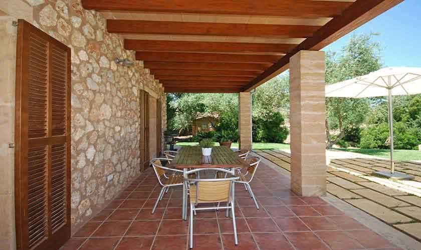 Terrasse Finca Mallorca 8 Personen PM 317
