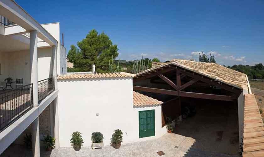 Blick auf die Halle Ferienhaus Mallorca 16-18 Personen PM 318