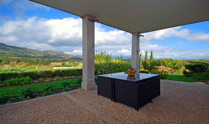 Terrasse Luxusfinca Mallorca 14 Personen PM 320