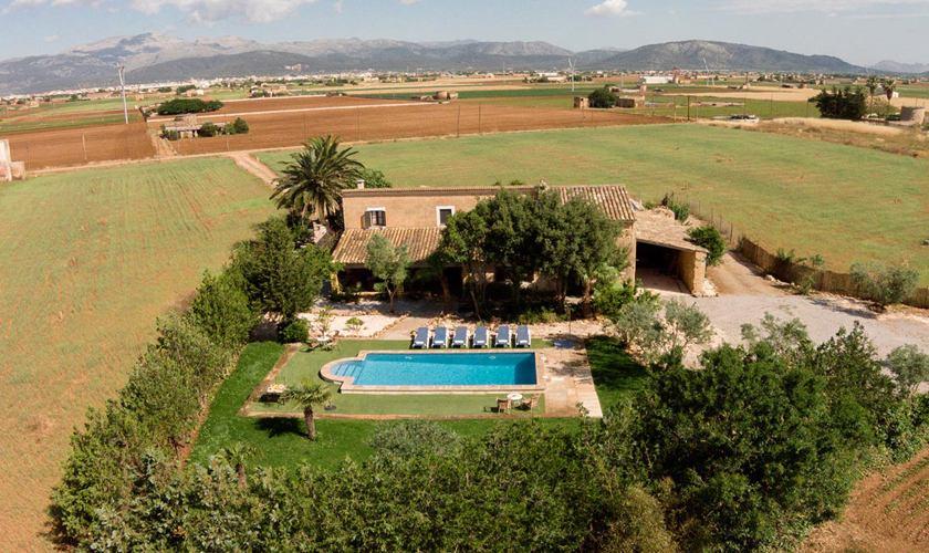 Blick auf die Finca Mallorca 8 Personen PM 3215