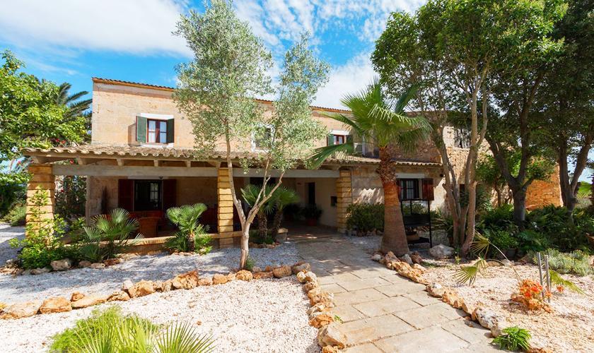Blick auf das Ferienhaus Mallorca 8 Personen PM 3215