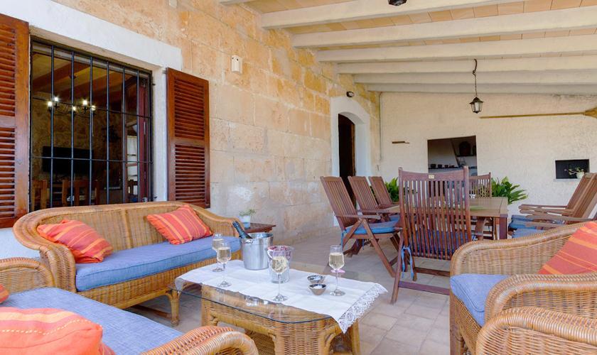 Terrasse Ferienfinca Mallorca 8 Personen PM 3215