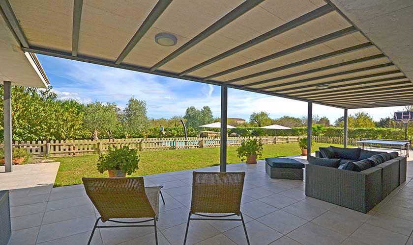 Terrasse und Finca Mallorca Norden PM 3220