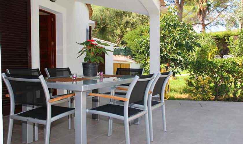 Terrasse Ferienhaus Mallorca Norden PM 3221