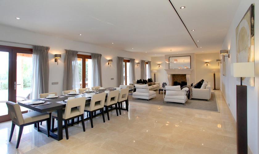 Essbereich Luxusvilla Mallorca für 12 Personen PM 3318