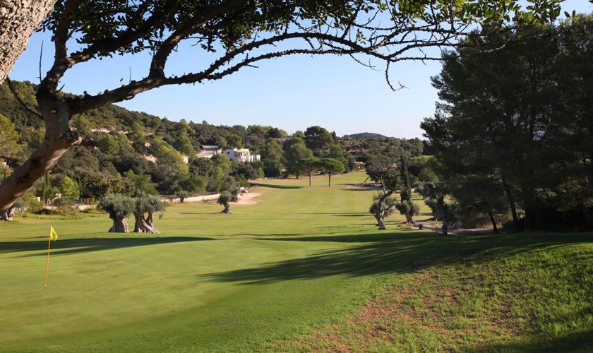 Blick auf den Golfplatz Luxusvilla Mallorca für 12 Personen PM 3318
