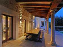 Terrasse und Pool Luxusvilla Mallorca für 12 Personen PM 3318