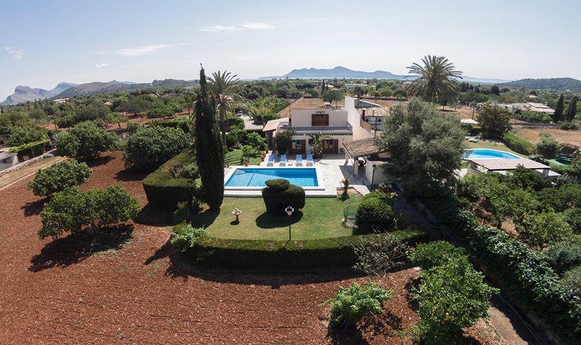 Blick auf die Finca Mallorca für 6 Personen PM 3325