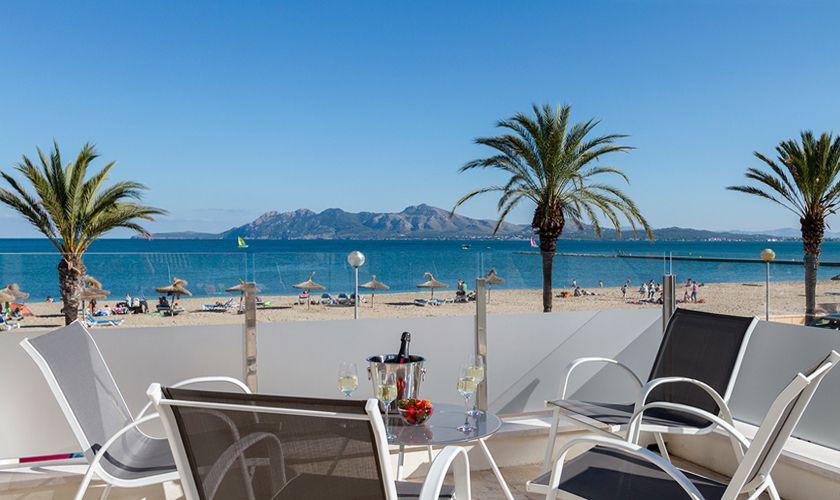 Terrasse Meerblick Ferienhaus Mallorca Nordküste PM 3327