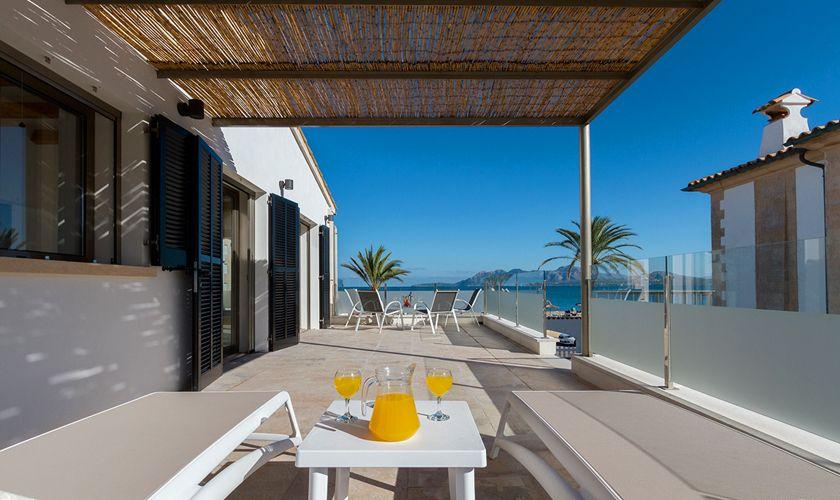 Terrasse Meerblick Ferienhaus Mallorca Strandnähe PM 3327