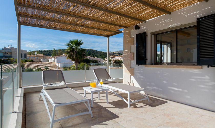 Terrasse Ferienhaus Mallorca Strandnähe PM 3327