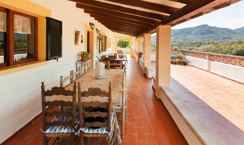Terrasse Ferienfinca Mallorca 10 Personen PM 3331
