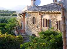 Blick auf die Finca Mallorca Norden PM 336 für 12-22 Personen