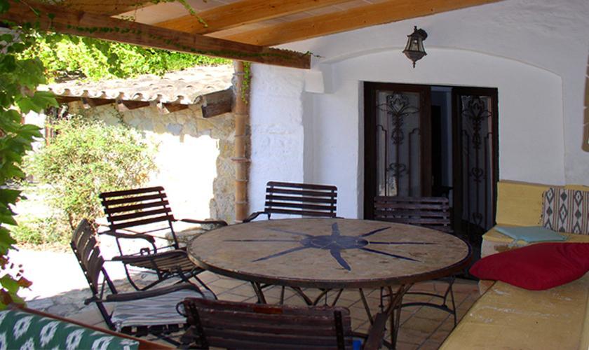 Terrasse Finca Mallorca Norden PM 336 für 12-22 Personen