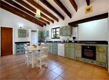Küche Finca Mallorca  mit Pool im Norden PM 3403 für 6 Personen