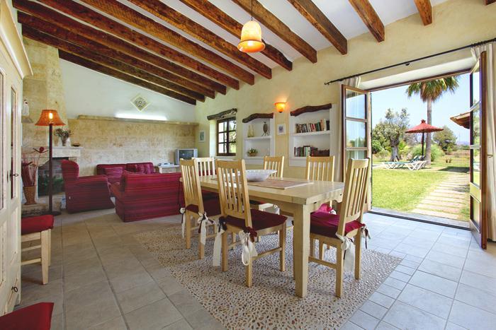 Wohnraum Finca Mallorca  mit Pool im Norden PM 3403 für 6 Personen