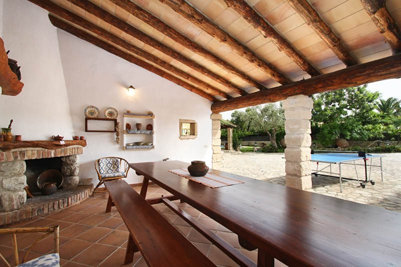 Terrasse Ferienhaus Mallorca Norden PM 3408