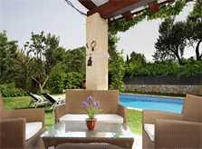 Terrasse der Finca Mallorca Norden PM 3408