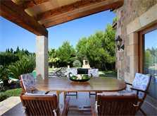 Terrasse der Ferienfinca Mallorca Norden PM 3409
