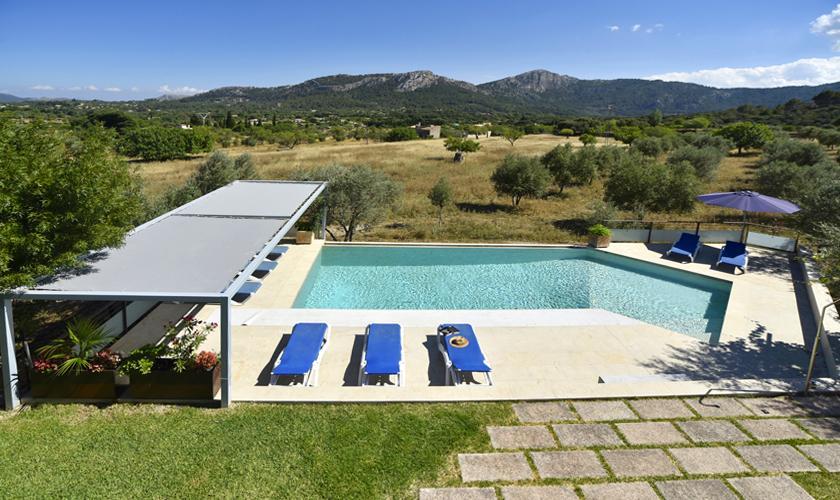 Blick Terrasse oben Finca  Mallorca PM 3410