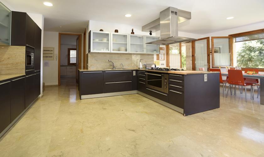 Küche Ferienfinca Mallorca Norden PM 3410