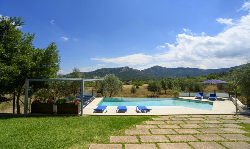 Poolblick von der Ferienvilla Mallorca Norden PM 3410