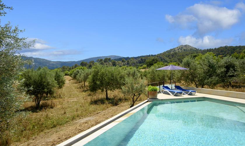 Pool und Landschaft Finca Mallorca PM 3410